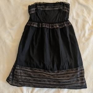 UO Pins & Needles Strapless Lace Dress